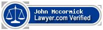 John P Mccormick  Lawyer Badge