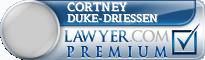 Cortney D Duke-Driessen  Lawyer Badge