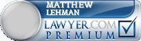 Matthew Robert Lehman  Lawyer Badge