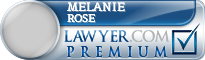 Melanie E Rose  Lawyer Badge