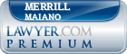Merrill A Maiano  Lawyer Badge