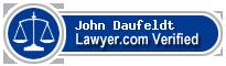John G. Daufeldt  Lawyer Badge