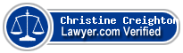 Christine Marie Creighton  Lawyer Badge