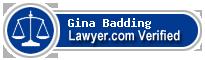Gina C. Badding  Lawyer Badge