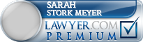 Sarah Elizabeth Stork Meyer  Lawyer Badge