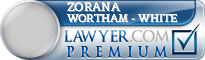 Zorana D. Wortham - White  Lawyer Badge