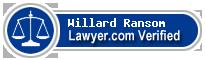 Willard L Ransom  Lawyer Badge