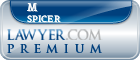M John Spicer  Lawyer Badge