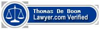 Thomas Noel De Boom  Lawyer Badge