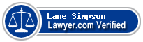 Lane W Simpson  Lawyer Badge