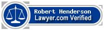 Robert Henderson  Lawyer Badge