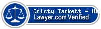 Cristy Ann Tackett - Hunt  Lawyer Badge