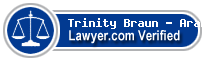 Trinity Mary Braun - Arana  Lawyer Badge