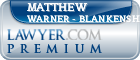 Matthew Alan Warner - Blankenship  Lawyer Badge