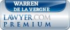 Warren T De La Vergne  Lawyer Badge