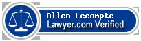 Allen J Lecompte  Lawyer Badge
