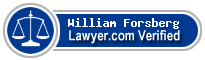 William Rudolph Forsberg  Lawyer Badge