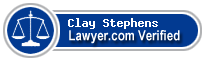 Clay W Stephens  Lawyer Badge