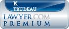 K Joseph Trudeau  Lawyer Badge