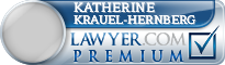 Katherine M Krauel-Hernberg  Lawyer Badge