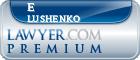 E Al Lushenko  Lawyer Badge