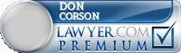 Don Corson  Lawyer Badge