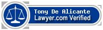 Tony Francis De Alicante  Lawyer Badge
