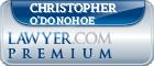 Christopher Franklin O'Donohoe  Lawyer Badge