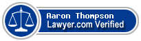 Aaron Neal Thompson  Lawyer Badge