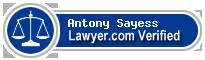 Antony Sayess  Lawyer Badge