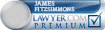 James T. Fitzsimmons  Lawyer Badge