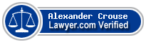 Alexander Walker Crouse  Lawyer Badge