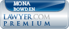 Mona M. Bowden  Lawyer Badge