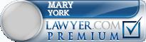 Mary Virginia York  Lawyer Badge