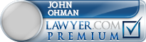John Michael Ohman  Lawyer Badge