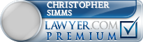Christopher Patrick Simms  Lawyer Badge