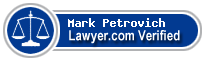 Mark John Petrovich  Lawyer Badge