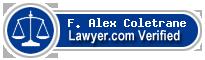 F. Alex Coletrane  Lawyer Badge