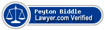 Peyton Randolph Biddle  Lawyer Badge