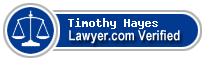 Timothy George Hayes  Lawyer Badge