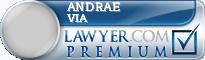 Andrae Jovan Via  Lawyer Badge