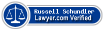 Russell Thomson Schundler  Lawyer Badge