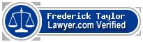 Frederick Daniel Taylor  Lawyer Badge