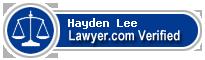 Hayden Oliver Lee  Lawyer Badge