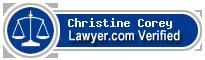 Christine Marie Corey  Lawyer Badge