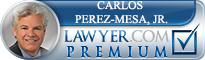 Carlos D. Perez-Mesa  Lawyer Badge