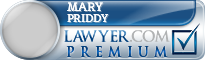 Mary M. Hutcheson Priddy  Lawyer Badge