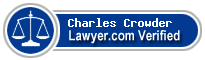 Charles Harper Crowder  Lawyer Badge