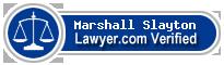 Marshall Moore Slayton  Lawyer Badge