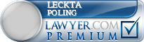 Leckta Lynn Poling  Lawyer Badge
